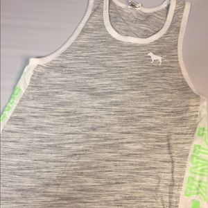 Pink Victoria Secret Grey White Green Tank Top S